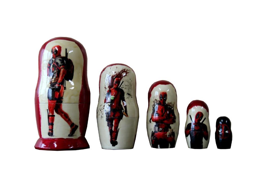 Matryoshka Deadpool. 5 Piece Nesting Doll
