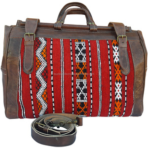 170f7479a1 Moroccan Leather Travel Bag