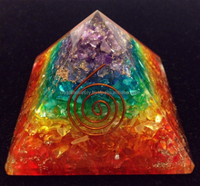 Orgone Pyramid 7 Chakra Layered Hot : Wholesale Orgone Pyramids : Wholesale Spiritual Orgone Products New From Crystals Supply