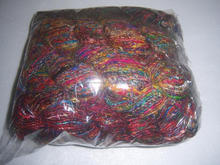 recycled sari silk yarn in multicolor by the bag per kg for knitters, spinners,weavers, art and crafts