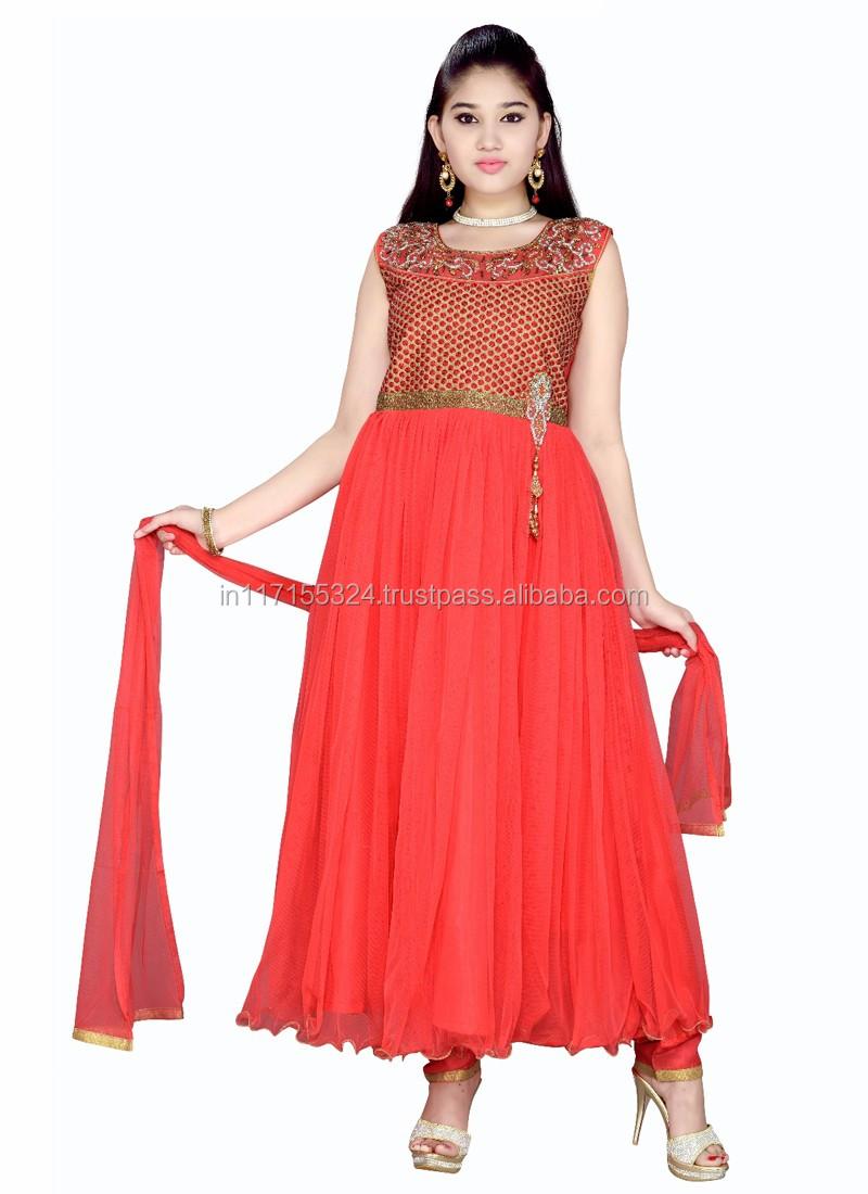 7c12b2229 Boutique de niño desgaste del partido ropa vestido anarkali de Salwar  kameez patrones para chica-