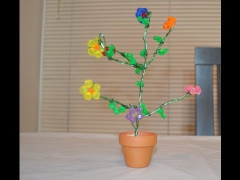 How to make a tree using crystal beads