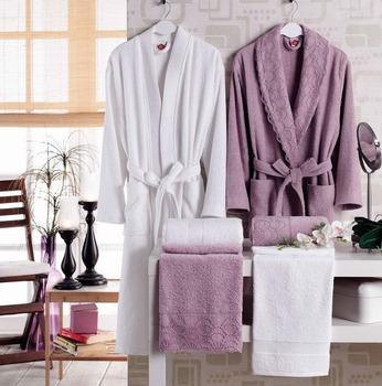 Family Bathrobe Towel Set Guipured dd1118f95