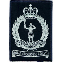 Machine Embroidery Badges Royal Observer Corps Boiler-suit Badge ...