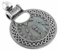 Wonderful Oxidised Superior 925 Sterling Silver Filigree Pendant