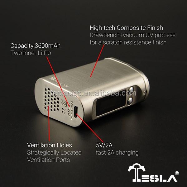 70*52*25mm Vape Mod Capacity 3600mah Tesla Nano 60w Vapor Box Mod ...
