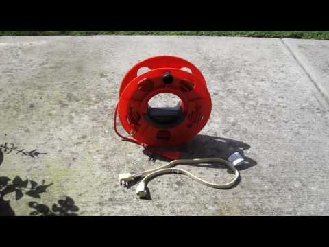 How to coil & use extension cord with cord reel - Quick and Easy