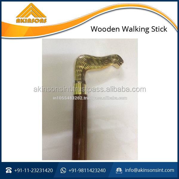 Premium Quality Elegant Look Antique Wooden Walking Stick