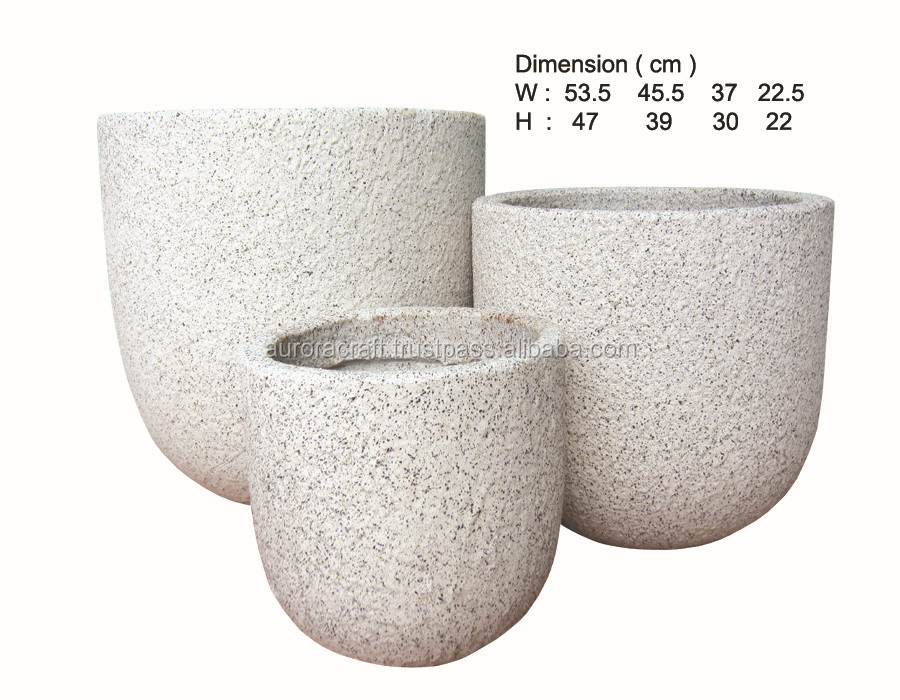 light cemen planter. light cement flower pots.
