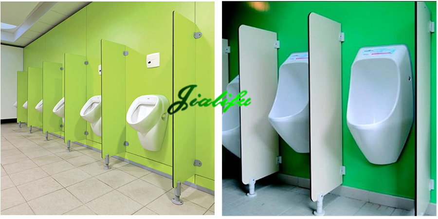 Hpl Wall Mounted Urinal Privacy Screen With Block
