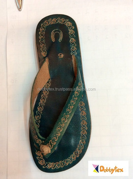ad0e38845eaf65 Dobbytex 1013 Green carved Handmade African Men Leather sandals Hmong Mien  Miao Summer