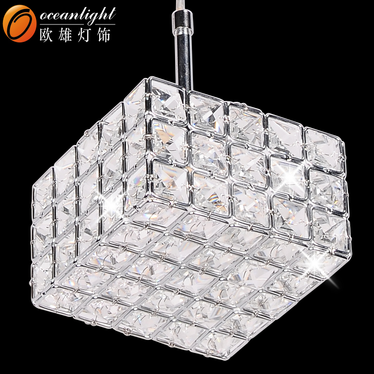 Square crystal pendant lamp modern hanging light rectangular square crystal pendant lamp modern hanging light rectangular crystal chandelier om55001 mozeypictures Images