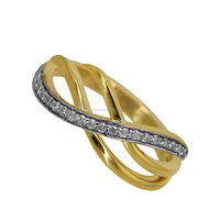 14k Solid Gold Pave Diamond Fashion Engagement Ring Fine Jewelry Wholesale