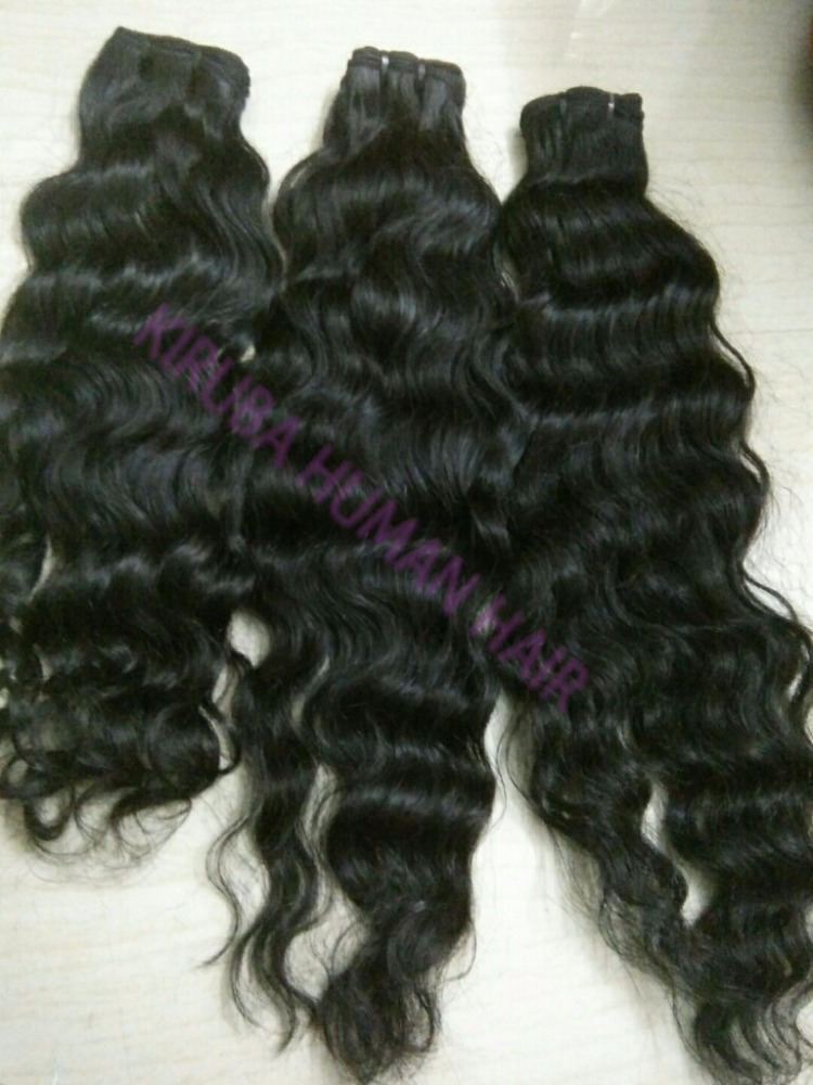 Natural Deep Curly Weft Raw Hair 100% Virgin Indian Human Hair Top Quality Virgin Hair and No Chemical , No Tangle and Shedding.