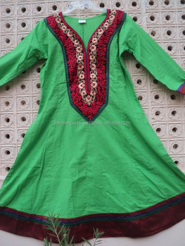 2018 Machine Embroidery Designs Printed Womans Anarkali Suits Cotton