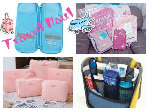August Travel Haul 2014 Travelus, Korean Bags in Bag, Travel Check, Diniwell Travel Bag)