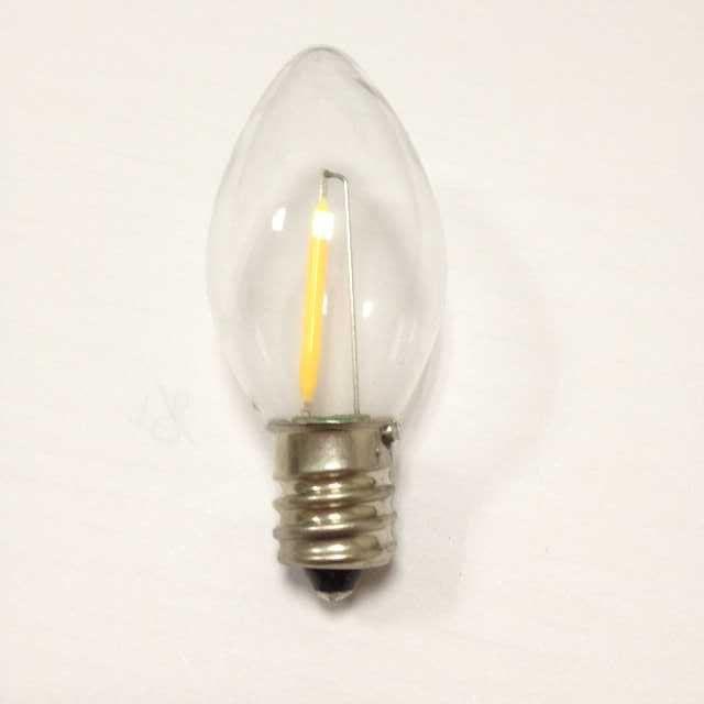 E12 1w 2200k C7 Dimmable Filament Led Bulb Etl C7 Led Filament ...