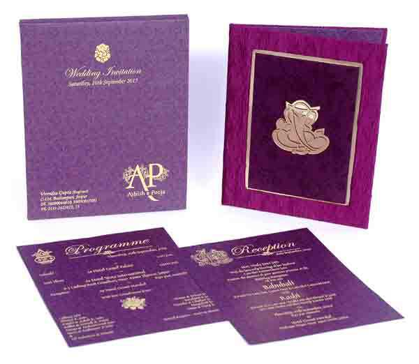 Unique Romantic Love Wedding Card Design With Custom Logo2015 – Latest Indian Wedding Invitation Cards