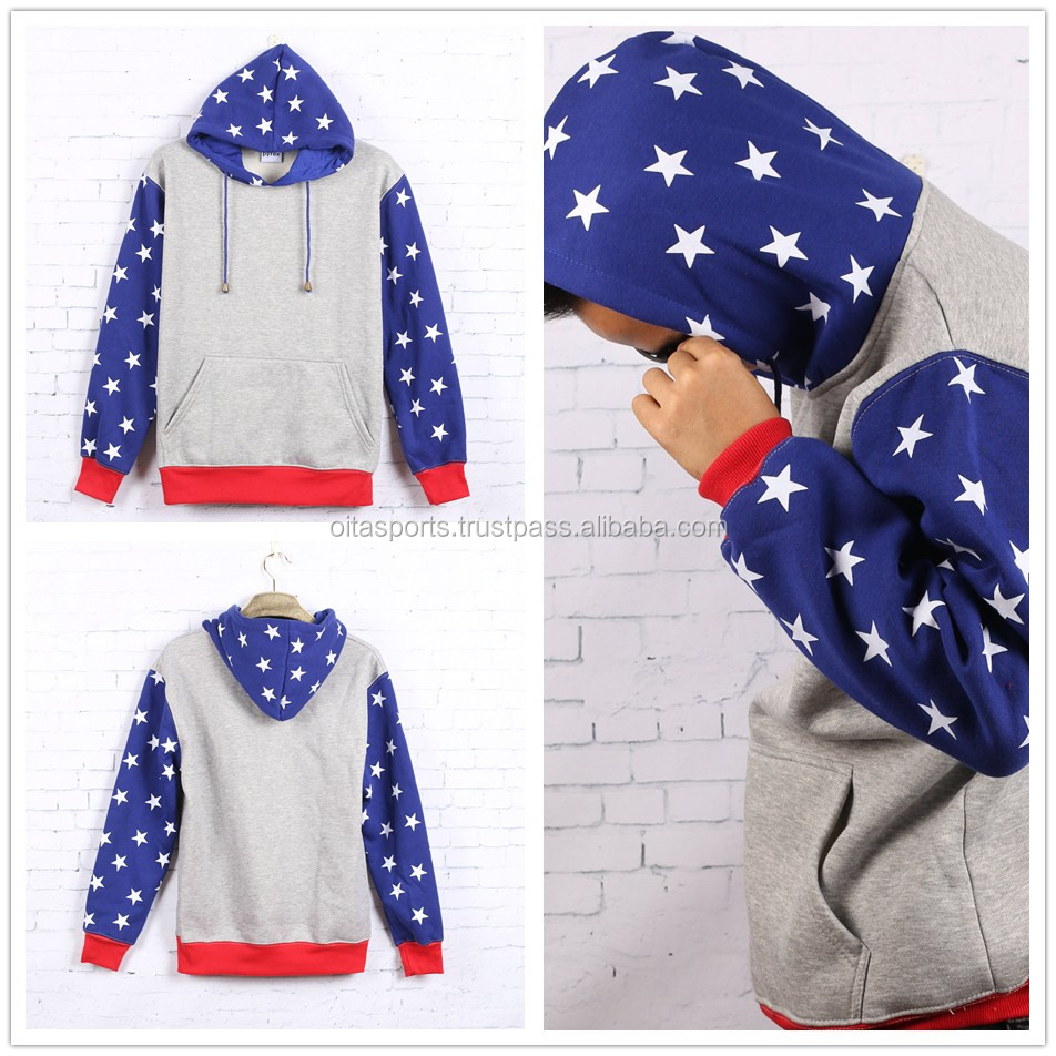 Hiphop plus size men star flag hoodies sweatshirt jacket street wear swag men urban clothing