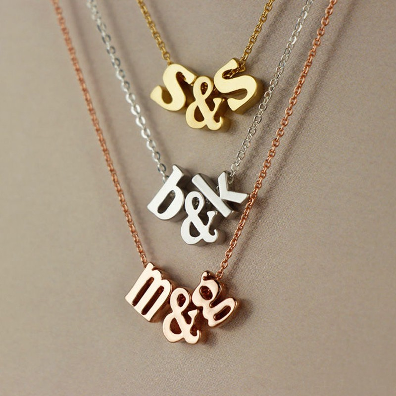 Charm Personalized Lower Case Letter Pendant Necklace