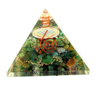 Orgone Ruby Fuchsite Chakra Flower Of Life Pyramid With Charge Crystal Point   Orgonite for sale   Khambhat Agate Exports