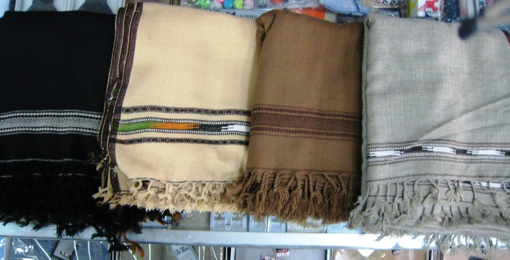 Pakistan Chitral Wool Shawl Blanket Handmade Scarf Men