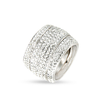 Best seller Sterling silver crystal band ring