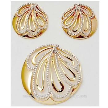 Graceful gold diamond pendant set buy diamond gold earringpendant graceful gold diamond pendant set aloadofball Images