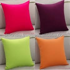 flour sack plain cotton throw pillow cover