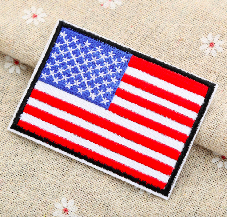 Factory wholesale cheap price embroiderd flag patch