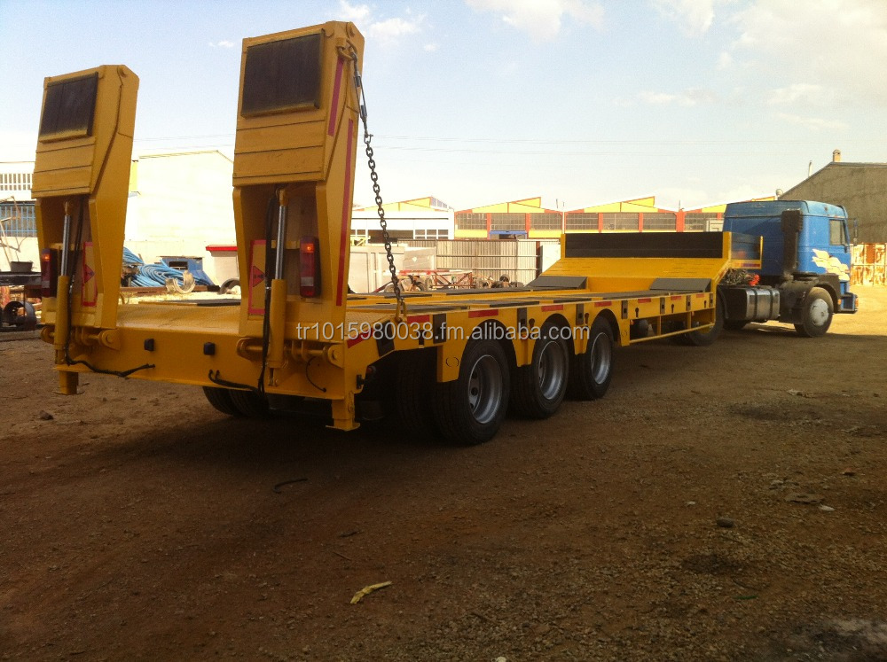 3 axle widely-used lowbed semi trailer with max pay load 70ton (other types available)