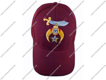 Shriners Baseball Cap Hat Order Nobles-Mystic-Shrine Masons Burgundy Maroon 1070166b91e