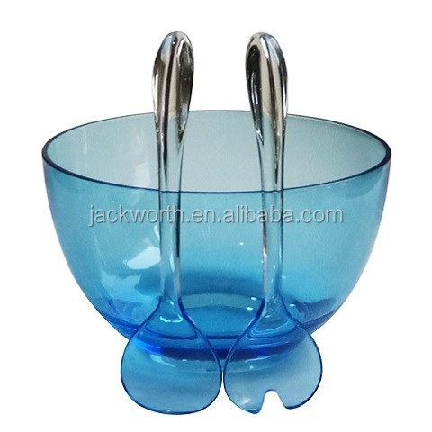 Plastic Salad Bowl with Server Set