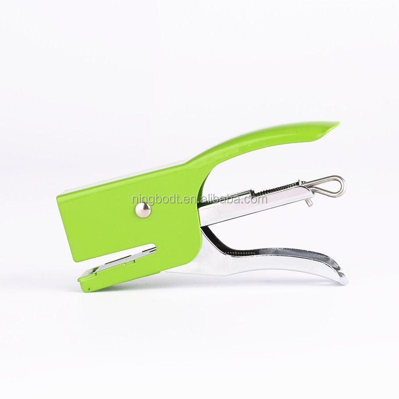 Comfort handle office metal stapler for organizing paper files in office