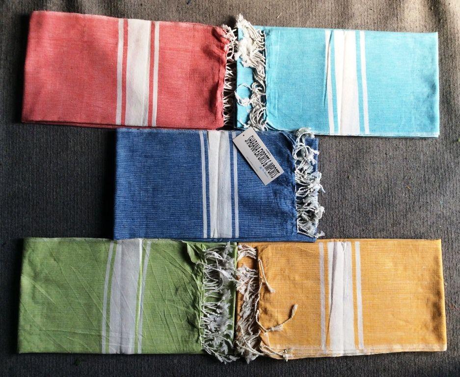 Wonderful 100% coton, qualité fine fouta tunisienne serviette de hammam  ET03