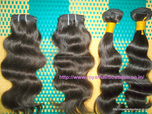 8a 100% Top Grade Real Virgin Indian Hair extension unprocessed Indian virgin hair, full cuticle ,various style in stock