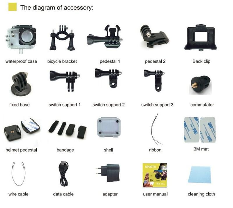 V3 Sports Camera Accessories