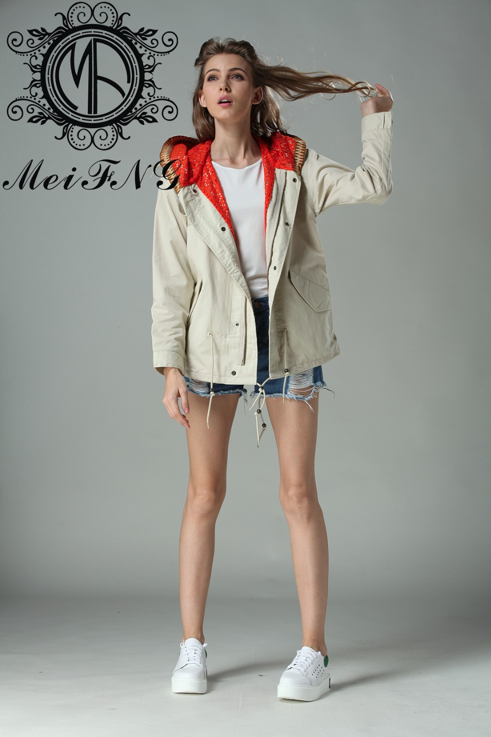 Latest Design Hot Fashion Girls Fancy Fall Casual Jacket