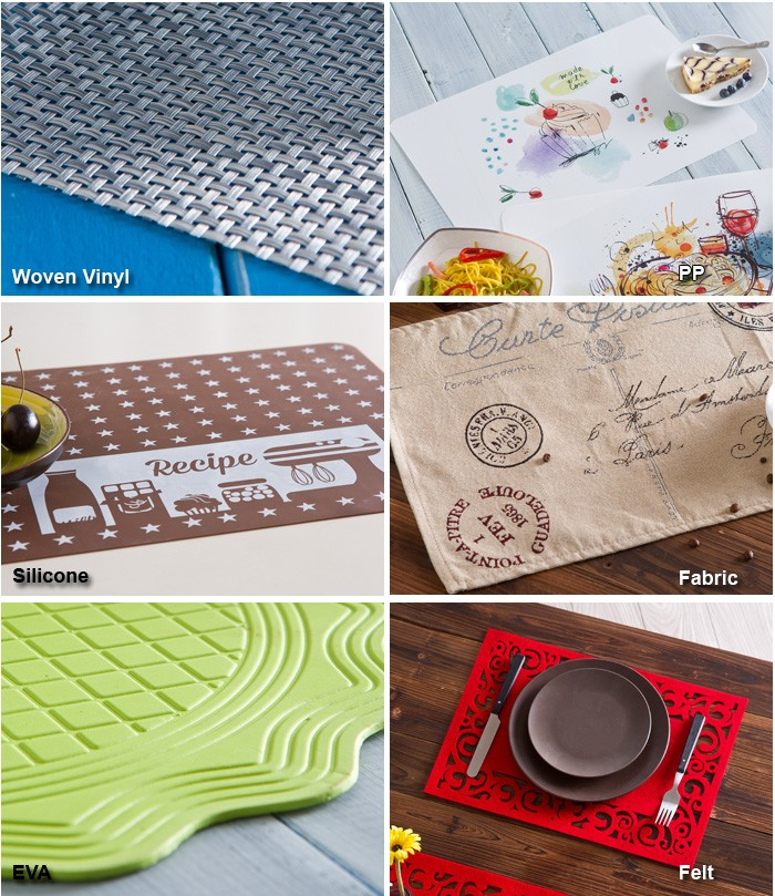 Woven Vinyl Washable Table Mat With Printing