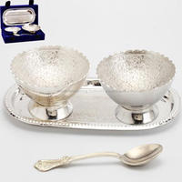 Brass Serving Bowl Designer Silver Plated With Red Box Gift Pieces ...