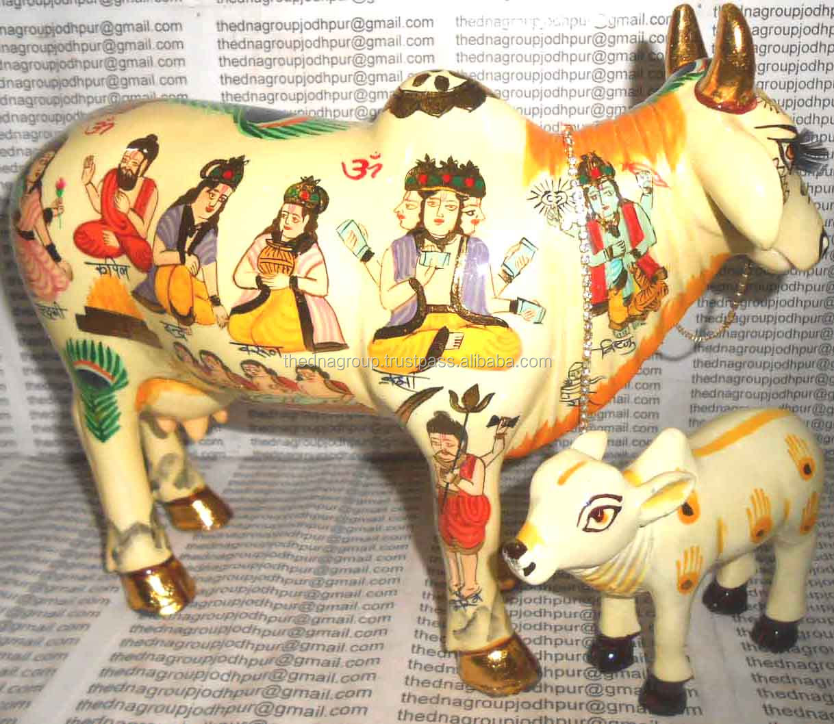 Decorative Kamdhenu Cow Statue For Promotional Gift-3 - Buy Resin Painted  Kamdhenu Cow With All Hindu Deities,Resin Painting Hindu Deities On  Kamdhenu