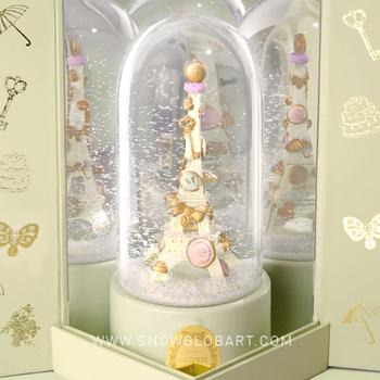 boule neige en verre luxe laduree macarons tour eiffel. Black Bedroom Furniture Sets. Home Design Ideas