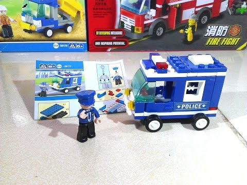 Toys For Kids. Lego Police Car Toys For Kids. Lego Police Car Toys For Children. Video Toys For Kids