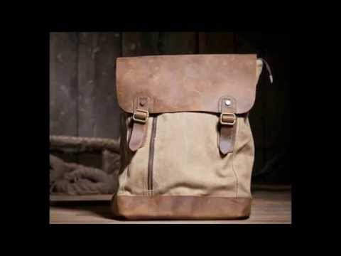 Wholesale Genuine Leather Canvas Bag Backpack shoulder bag Wholesale Canvas Messenger Bag