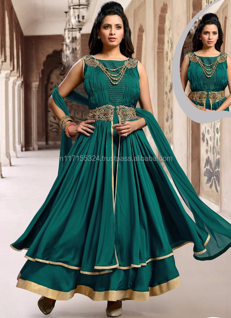 Designer Indian Anarkali Suit - Designer Party Wear Heavy Anarkali ...