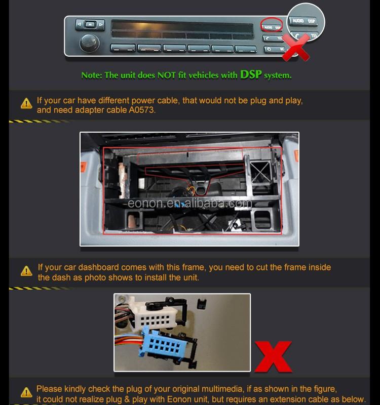 eonon d5166z 7 cran tactile num rique lecteur dvd de voiture avec gps int gr pour bmw e39. Black Bedroom Furniture Sets. Home Design Ideas