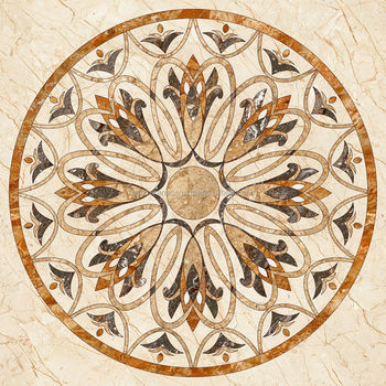 Flower Design Floor Tiles