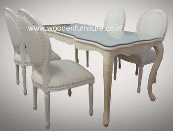 French Style Dining Chair Classic Room Furniture Antique Reproduction Set European Home