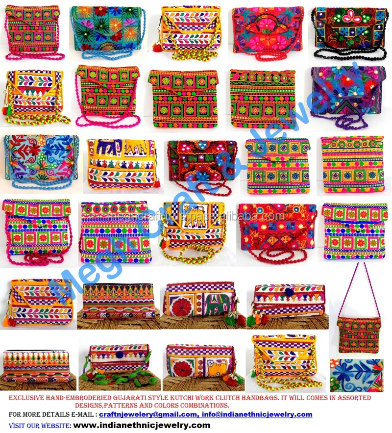 2017 Women New Envelope Patch Work Handmade Clutch Purse Las Multi Color Indian Vintage Embroidered Whole