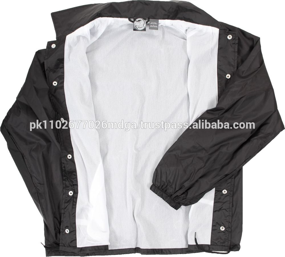 Wholesale Coach Custom Polyester Nylon Coach Jacket/trainer Jacket ...